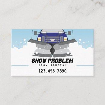 snow plow service business card