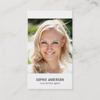 social media black and white profile photo business card
