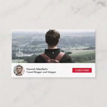 social media youtube inspired | business card