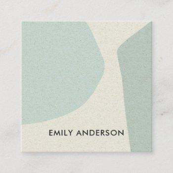 soft aqua sky blue modern rustic abstract artistic square business card
