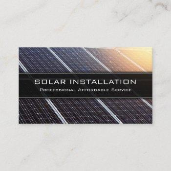 solar panel installation - business card
