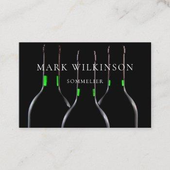 sommelier wine expert business card