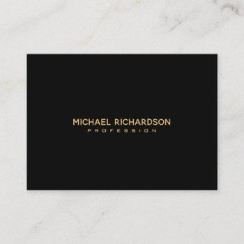 sophisticated black gold masculine business card