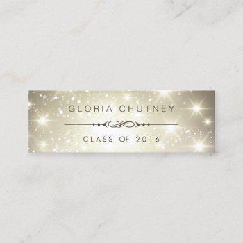 sparkling bokeh personal graduation name card