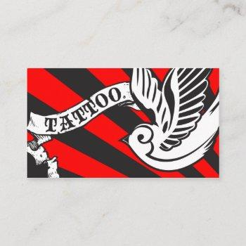 sparrow tattoo business card
