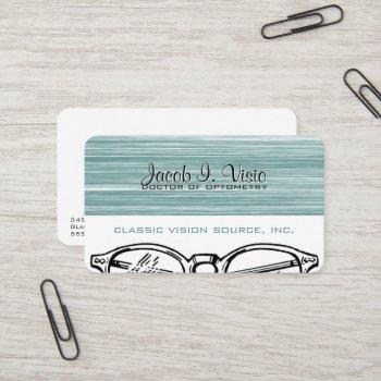 spectacles eyewear optometry vision scratchy business card
