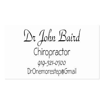 Small Spinal Business Card Back View