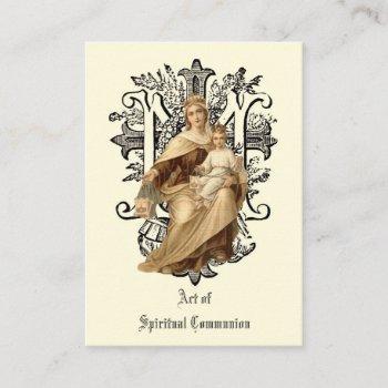 spiritual communion holy card catholic prayer