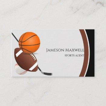 sports agent business card