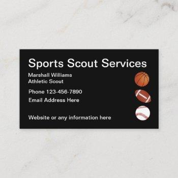 sports athletic scout simple layout business card