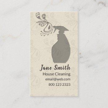 spray bottle house window cleaning maintenance business card