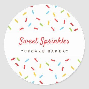 sprinkles colorful bakery desserts catering pastry classic round sticker