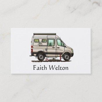 sprinter camper van rv happy camper business card