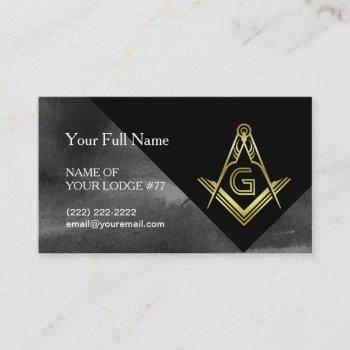 square & compass business cards for freemasons