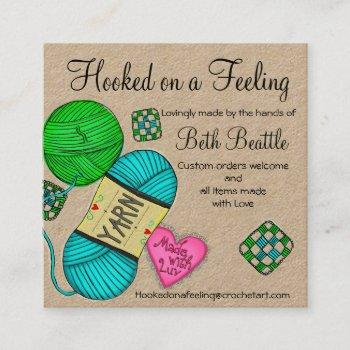 square yarn/crochet/knitting business cards