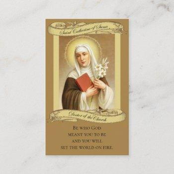 st. catherine of siena holy card