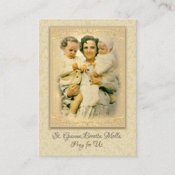 st. gianna beretta molla catholic prayer holy card