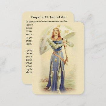st. joan of arc flag soldier catholic holy card