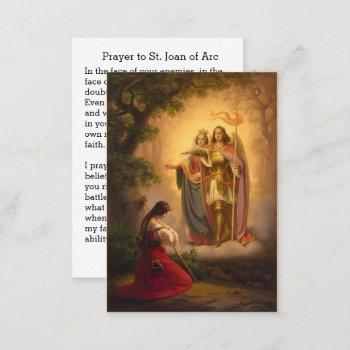 st. joan of arc  michael catherine holy card