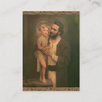 st. joseph jesus angels memorare prayer business card