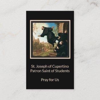 st. joseph of cupertino catholic holy  card