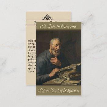 st. luke evangelist patron of physicians holy card