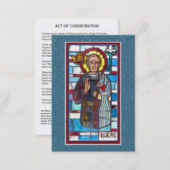 st. maximilian kolbe immaculata prayer holy card