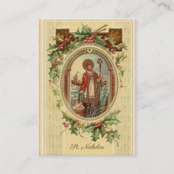 st. nicholas of myra prayer holy cards