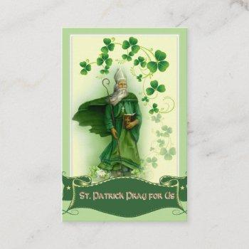 st. patrick's  holy card with beautiful prayer