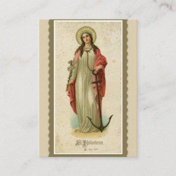 st. philomena wonderworker & martyr holy card