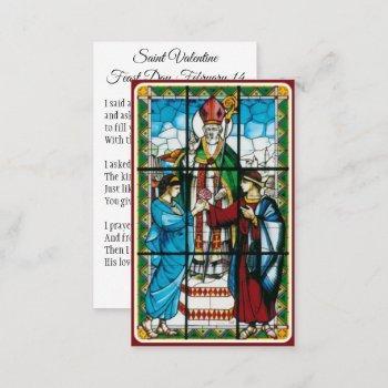 st. valentine prayer poem religious - holy card