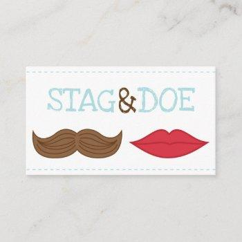 stag and doe tickets - lips and moustache