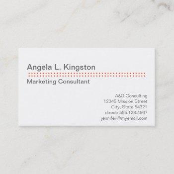 standard modern micro dot cherry red gray custom business card