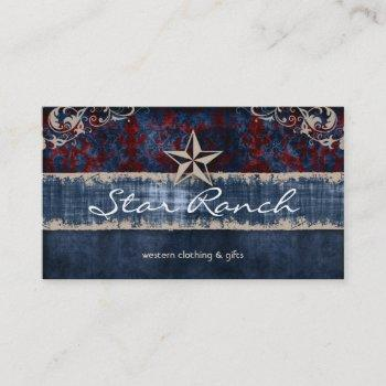star suede business card red blue h