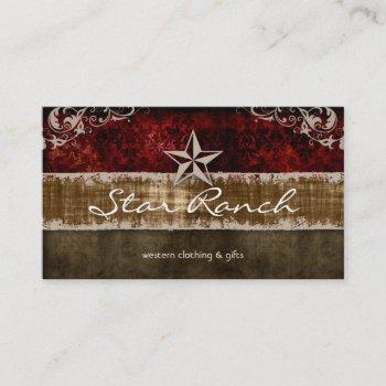 star suede business card red brown h