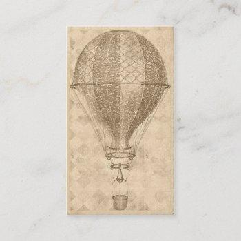 steampunk balloon business or contact cards