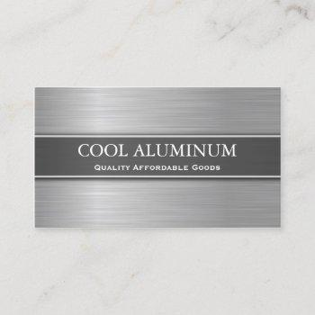 steel / aluminum effect business card