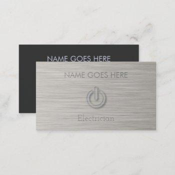 """steel"" electrician business cards"