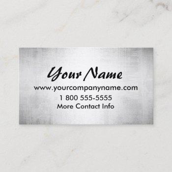 steel metal look indestructible business cards