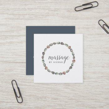 stone circle | massage or wellness square business card