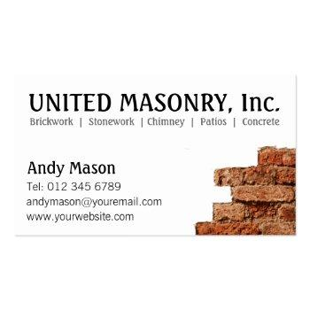 Small Stone Masonry Business Cards Front View