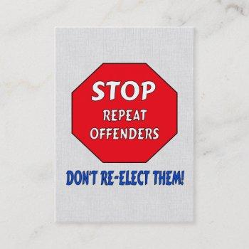 stop repeat offenders business card