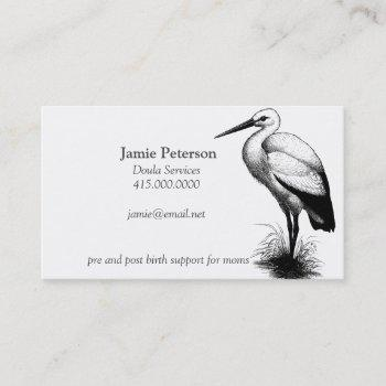 stork call the doula business cards