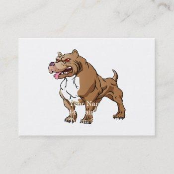 strong pitbull bodybuilder. business card