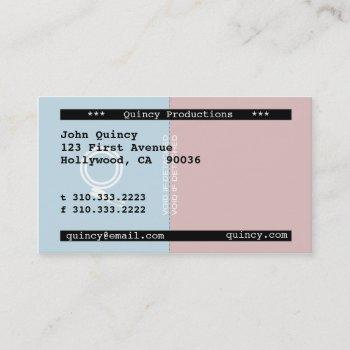 stub business card