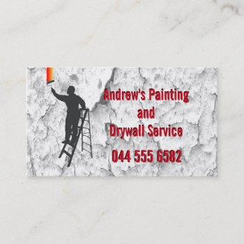 stucco painting service handyman home repair fab business card