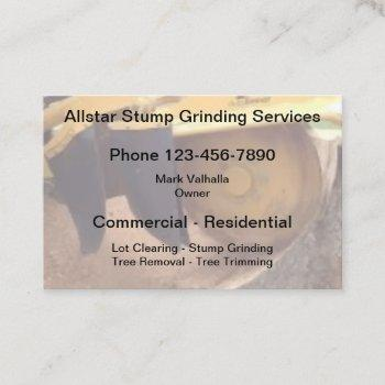 stump grinding and tree service business card