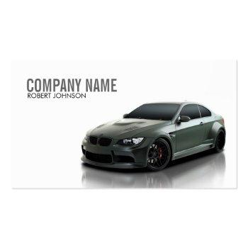Small Stylish Automotive Business Card Front View