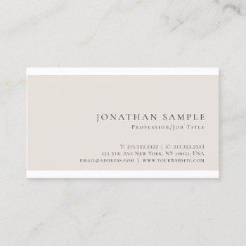 stylish color modern chic sleek plain trendy business card