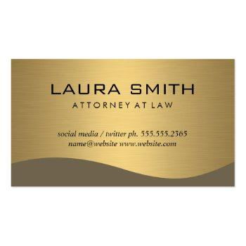 Small Stylish Corporate / Gold Metallic Business Card Front View